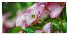 Beach Towel featuring the photograph Pink Dogwood by Bonnie Bruno