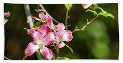 Pink Dogwood Beach Sheet