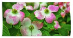 Pink Dogwoods 003 Beach Towel by George Bostian