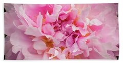 Pink Double Peony Beach Sheet