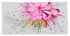 Pink Eruption Beach Towel