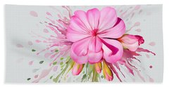 Beach Towel featuring the painting Pink Eruption by Ivana Westin