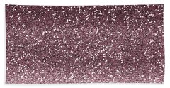 Pink Faux Glitter Ombre Beach Towel