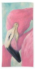 Pink Flamingo V Beach Towel