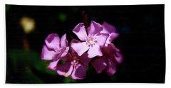 Pink Floral Artistry Beach Sheet