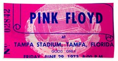 Pink Floyd Concert Ticket 1973 Beach Towel