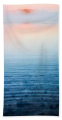 Pink Fog At Sunrise Beach Towel by Shelby  Young