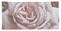 Pink Garden Rose Beach Towel