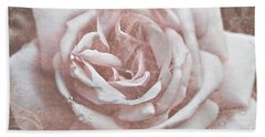 Pink Garden Rose Beach Towel