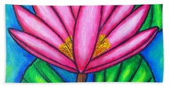 Beach Towel featuring the painting Pink Gem 3 by Lisa  Lorenz