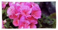 Pink Geranium Beach Sheet