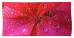 Pink Geranium Beach Sheet