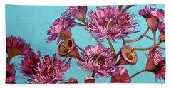 Pink Gum Blossoms Beach Sheet