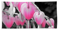 Pink Hearts Beach Towel
