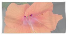 Pink Heavenly Hibiscus Beach Towel by Donna Bentley