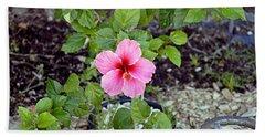 Pink Hibiscus And Wheel Beach Towel