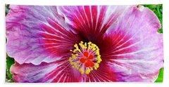 Pink Hibiscus Joyous Cosmology Beach Towel