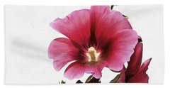 Pink Hollyhock Beach Sheet