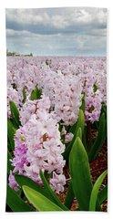 Pink Hyacinth  Beach Towel by Mihaela Pater