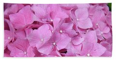 Pink Hydrangea Beach Sheet by Elvira Ladocki