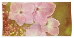 Beach Towel featuring the photograph Pink Hydrangeas by Lyn Randle