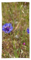 Beach Towel featuring the photograph Pink In Between by Marie Neder