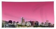 Portland Pink Beach Towel