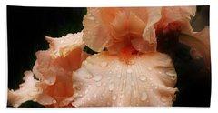 Pink Iris 1 Beach Sheet by Bruce Bley
