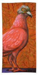 Pink Lady Beach Towel by Leah Saulnier The Painting Maniac