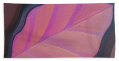 Pink Leaf Beach Towel