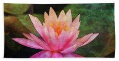 Pink Lotus 4134 Idp_2 Beach Towel