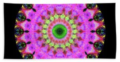 Pink Love Mandala Art By Sharon Cummings Beach Towel