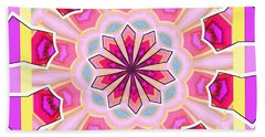 Pink Love Beach Towel by Shirley Moravec