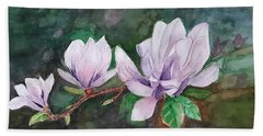 Pink Magnolia - Painting Beach Sheet