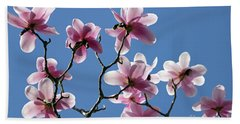 Pink Magnolias  Beach Towel