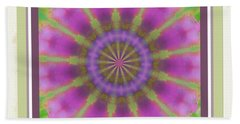 Pink Mandala Bloom Beach Towel by Shirley Moravec