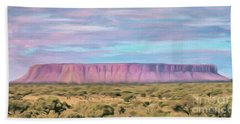 Pink Mesa Beach Towel by Walter Colvin