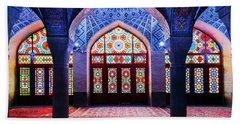 Pink Mosque, Iran Beach Towel