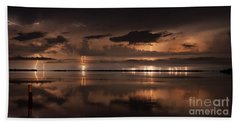 Amber Nights Beach Towel by Quinn Sedam