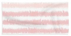 Pink Ombre Ikat Stripe- Art By Linda Woods Beach Towel