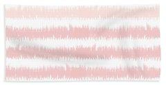Pink Ombre Ikat Stripe- Art By Linda Woods Beach Towel