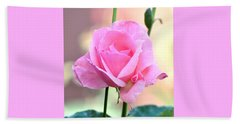 Pink On Pink Rose Beach Towel by Jay Milo