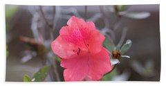 Pink Orange Flower Beach Towel