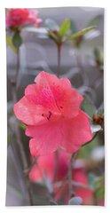Pink Orange Flower Beach Sheet