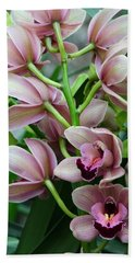Pink Orchids 2 Beach Towel