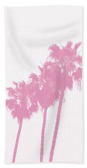 Pink Palm Trees- Art By Linda Woods Beach Towel