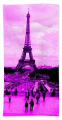 Pink Paris Beach Towel
