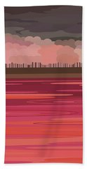 Pink Park Beach Towel