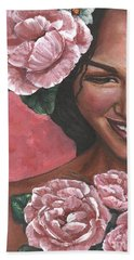 Beach Sheet featuring the painting Pink Passion by Alga Washington