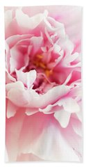 Beach Towel featuring the photograph Pink Peony 2 by Elena Nosyreva